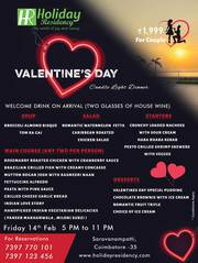 Candle Light Dinner @ Holiday Residency In This Valentine's Day…!